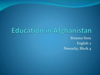 Education in Afghanistan