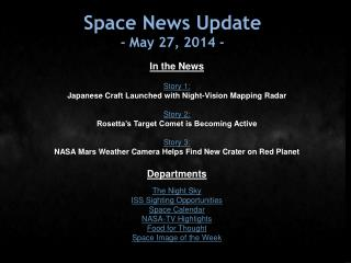 Space News Update -  May 27, 2014  -