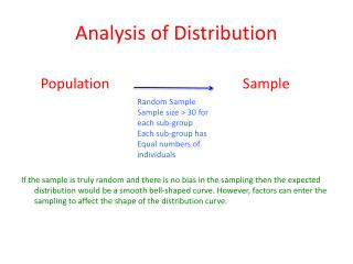 Analysis of Distribution
