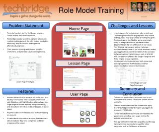 Role Model Training