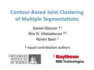 Contour-Based Joint Clustering of Multiple Segmentations