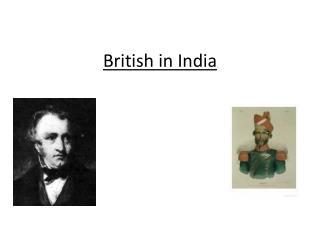British in India