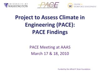 Project to Assess Climate in Engineering (PACE): PACE Findings