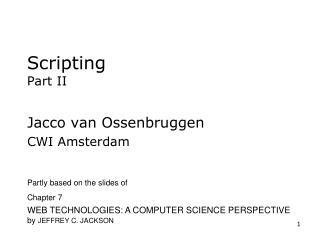 Scripting Part II