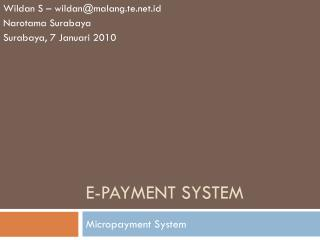 e -payment system