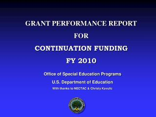 Office of Special Education Programs U.S. Department of  Education