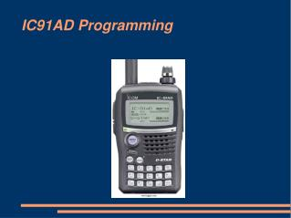 IC91AD Programming IC91AD Programming There are several ways ...