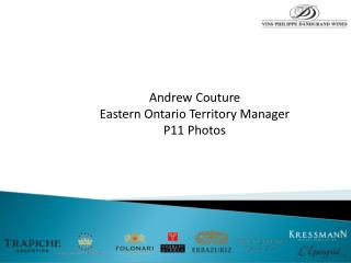 Andrew Couture Eastern Ontario Territory Manager P11 Photos