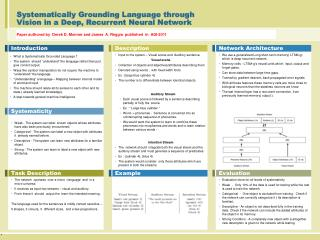 Systematically Grounding Language through Vision in a Deep, Recurrent Neural Network