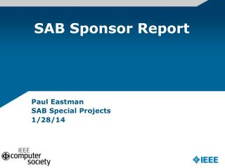 SAB Sponsor Report