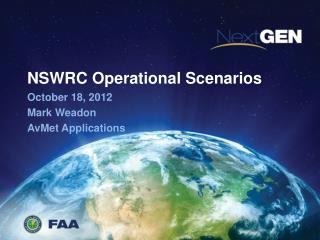 NSWRC Operational Scenarios