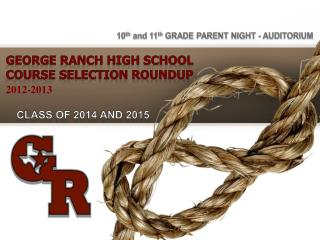 GEORGE RANCH HIGH SCHOOL Course Selection Roundup