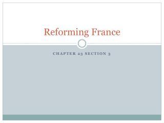 Reforming France