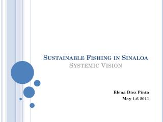 Sustainable Fishing in Sinaloa Systemic Vision