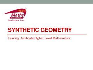 Synthetic Geometry