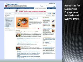 Resources for Supporting Engagement for Each and Every Family