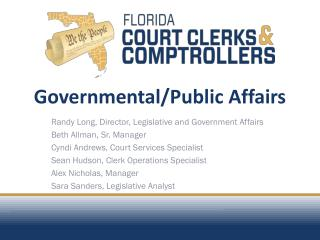 Governmental/Public Affairs
