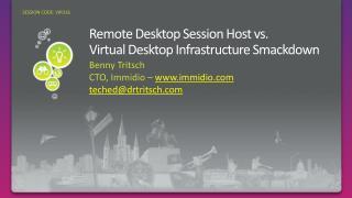 Remote Desktop Session Host vs.  Virtual Desktop Infrastructure Smackdown
