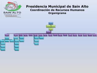 Presidencia Municipal de Sain Alto Coordinación de Recursos Humanos Organigrama