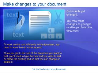 Make changes to your document