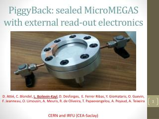 PiggyBack :  sealed MicroMEGAS with external read -out  electronics