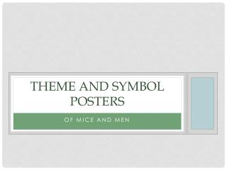 Theme and Symbol Posters