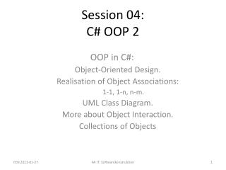 Session 04: C# OOP 2