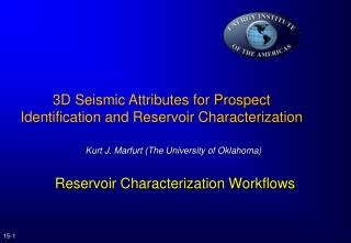 Reservoir Characterization Workflows