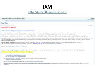 IAM iam2009.pbworks