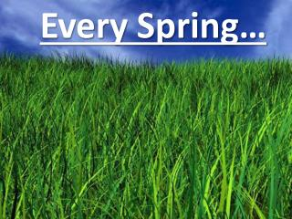 Every Spring…