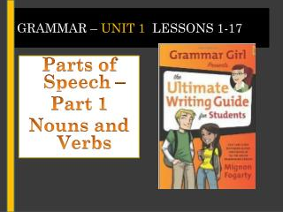 Grammar –  Unit 1   Lessons 1-17