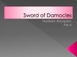 Sword of Damocle s