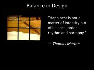 Balance in Design