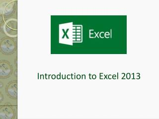Introduction to Excel 2013