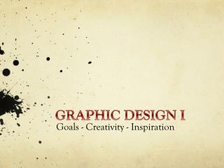 GRAPHIC DESIGN I
