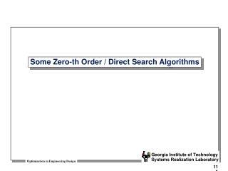 Some Zero-th Order