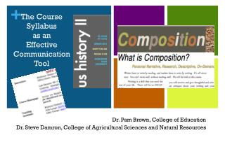 The Course Syllabus as an  Effective  Communication Tool