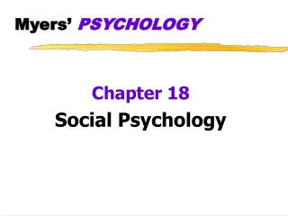 Myers  PSYCHOLOGY