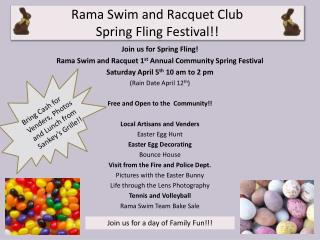 Rama Swim and Racquet Club  Spring Fling Festival!!