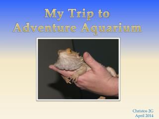 My  Trip  to Adventure Aquarium