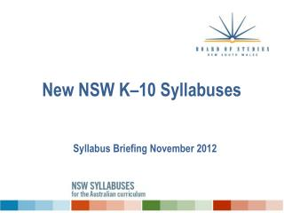 New NSW K–10 Syllabuses