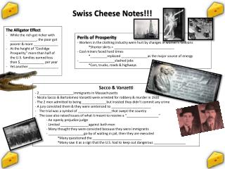 Swiss Cheese Notes!!!