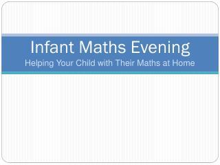 Infant Maths Evening