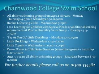 Charnwood College Swim School