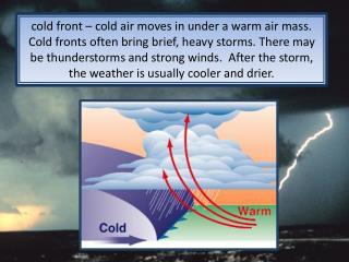 warm fronts vs. cold fronts