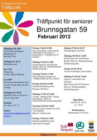 Brunnsgatan 59  Februari 2012