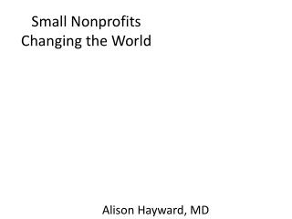 Small Nonprofits Changing the World
