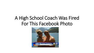A High School Coach Was Fired For This Facebook Photo