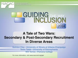 A  Tale of Two Wars: Secondary & Post-Secondary Recruitment In Diverse Areas
