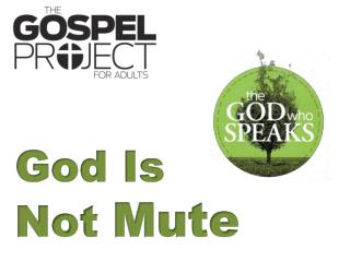 God Is  Not  Mute